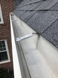 A picture of a clean gutter