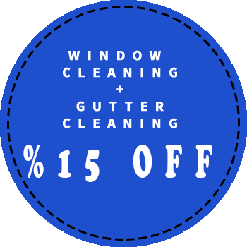 Window cleaning and gutter cleaning 15 percent off discount