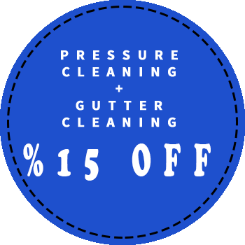 Pressure cleaning and gutter cleaning 15 percent off discount