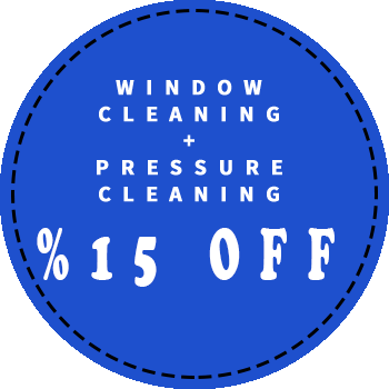 Window cleaning and pressure cleaning 15 percent off discount